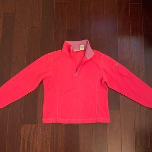 LL Bean Girls Fleece Long Sleeve Pink/Purple Small
